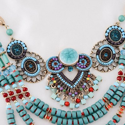 Фотография Delicate Beads Layered Round Necklace For Women