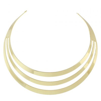 Stylish Solid Color Hollow Out Choker Necklace For Women