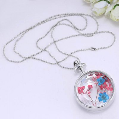 Stylish Dried Flower Round Shape Necklace For WomenNecklaces &amp; Pendants<br>Stylish Dried Flower Round Shape Necklace For Women<br><br>Item Type: Pendant Necklace<br>Gender: For Women<br>Style: Trendy<br>Shape/Pattern: Round<br>Length: 60CM<br>Weight: 0.050KG<br>Package Contents: 1 x Necklace