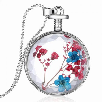 Stylish Dried Flower Round Shape Necklace For Women