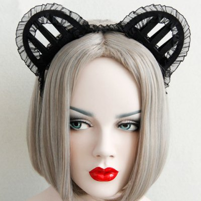 Фотография Cute Solid Color Hollow Out Cat Ear Shape Hairband For Women