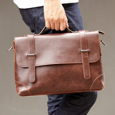 Retro Stitching and Solid Color Design Mens BriefcaseMens Bags<br>Retro Stitching and Solid Color Design Mens Briefcase<br><br>Gender: For Men<br>Style: Vintage<br>Closure Type: Zipper<br>Pattern Type: Solid<br>Height: 24CM<br>Length: 34CM<br>Width: 7CM<br>Main Material: PU<br>Weight: 1.20KG<br>Package Contents: 1 x Briefcase