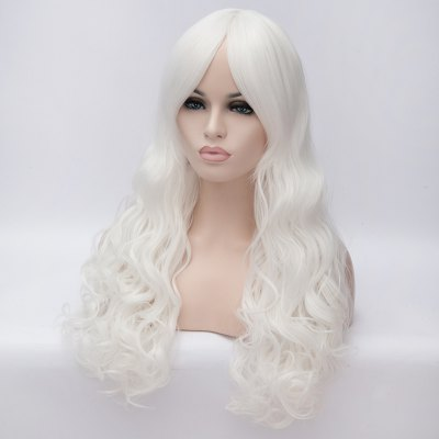 Attractive Shaggy Wavy Long Capless Heat Resistant Synthetic Middle Part Wig For Women