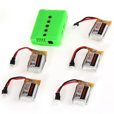 ФОТО 5 - Port Charger 5 Pcs 3.7V 150mAh 30C Battery for Floureon H101 RC Quadcopter US Plug with EU Connector