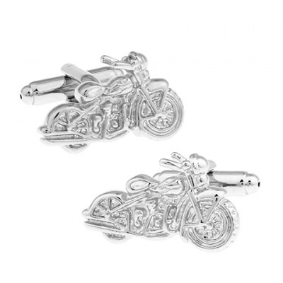 Solid Color Motorcycle Shape Cufflinks For Men