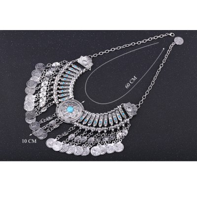 Фотография Vintage Coin Tassel Necklace For Women