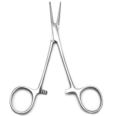 Pet Stainless Steel Hemostatic Forcep with Straight Toothed