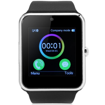 King Wear GT08 Smartwatch PhoneSmart Watch Phone<br>King Wear GT08 Smartwatch Phone<br><br>Type: Watch Phone<br>CPU: MTK6261<br>RAM: 32GB<br>ROM: 64MB<br>External Memory: TF card up to 32GB (not included)<br>Wireless Connectivity: Bluetooth,GSM<br>Network type: GSM<br>Frequency: GSM850/900/1800/1900MHz<br>Bluetooth: Yes<br>Screen type: Capacitive<br>Screen size: 1.54 inch<br>IPS: Yes<br>Screen resolution: 240 x 240<br>Camera type: Single camera<br>Front camera: 0.08MP<br>SIM Card Slot: Single SIM(Micro SIM slot)<br>TF card slot: Yes<br>Micro USB Slot: Yes<br>Picture format: JPEG,PNG<br>Languages: English, French, Spanish, Portuguese, Italian, Dutch, Russian, Turkish, German, Polish<br>Additional Features: Alarm,Bluetooth,Browser,E-book,MP3,People,Sound Recorder<br>Cell Phone: 1<br>Screen Protector: 1<br>Battery: 1 x 350mAh<br>USB Cable: 1<br>English Manual : 1<br>Product size: 4.70 x 4.20 x 1.18 cm / 1.85 x 1.65 x 0.46 inches<br>Package size: 9.60 x 9.60 x 8.20 cm / 3.78 x 3.78 x 3.23 inches<br>Product weight: 0.060 kg<br>Package weight: 0.250 kg