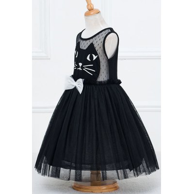 Stylish Sleeveless Round Neck Cat Face Pattern Mesh Spliced Girls DressGirls Clothing<br>Stylish Sleeveless Round Neck Cat Face Pattern Mesh Spliced Girls Dress<br><br>Style: Cute<br>Material: Polyester<br>Silhouette: Ball Gown<br>Dresses Length: Mini<br>Neckline: Round Collar<br>Sleeve Length: Sleeveless<br>Pattern Type: Animal<br>With Belt: No<br>Season: Spring,Summer,Fall,Winter<br>Weight: 0.171kg<br>Package Contents: 1 x Dress
