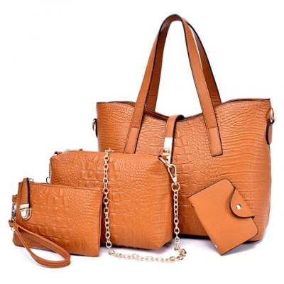 Metal Hasp Design Shoulder Bag For Women