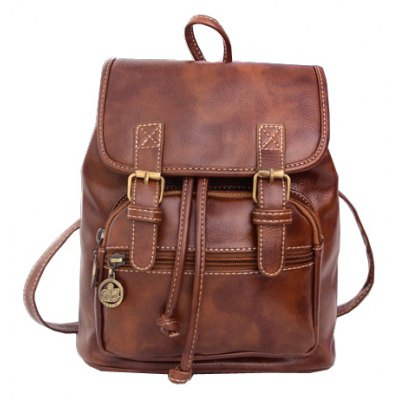 Double Buckle Design Satchel For Women