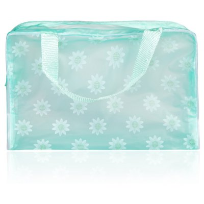 Lovely Printed Practical Convenient Waterproof Translucent Bath Wash Bag