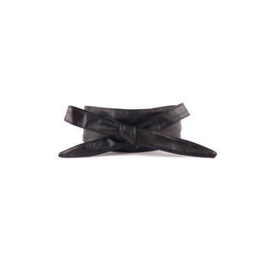 Knotted Bow PU Waistband For Women