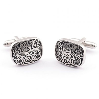 Pair of Stylish Retro Carve Embellished Alloy Cufflinks For Men
