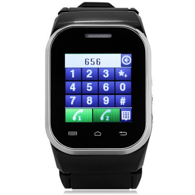 Ken Xin Da W1 Smartwatch PhoneSmart Watch Phone<br>Ken Xin Da W1 Smartwatch Phone<br><br>Type: Watch Phone<br>Cores: Cortex-A8<br>External Memory: TF card up to 16GB (not included)<br>Wireless Connectivity: Bluetooth,GSM<br>Network type: GSM<br>Frequency: GSM900/1800MHz<br>Bluetooth: Yes<br>Screen type: Capacitive<br>Screen size: 1.44 inch<br>Camera type: Single camera<br>Back-camera: 1.2MP<br>Video recording: Yes<br>SIM Card Slot: Dual SIM,Dual Standby<br>TF card slot: Yes<br>Micro USB Slot: Yes<br>Picture format: BMP,GIF<br>Music format: AAC,MP3,WAV<br>Languages: English, French, Spanish, German, Russian<br>Additional Features: Alarm,Bluetooth,Calculator...,FM,MP3,People,Sound Recorder<br>Cell Phone: 1<br>Battery: 1 x 900mAh<br>Power Adapter: 1<br>USB Cable: 1<br>English Manual : 1<br>Product size: 6.00 x 3.80 x 1.80 cm / 2.36 x 1.5 x 0.71 inches<br>Package size: 15.50 x 10.00 x 5.80 cm / 6.1 x 3.94 x 2.28 inches<br>Product weight: 0.062 kg<br>Package weight: 0.250 kg