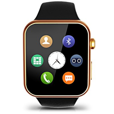 A9 MTK2502A Smart WatchSmart Watches<br>A9 MTK2502A Smart Watch<br><br>Built-in chip type: MTK2502<br>Bluetooth version: Bluetooth 4.0<br>Waterproof: Yes<br>Bluetooth calling: Call log sync,Dialing,Phone call reminder,Phonebook<br>Messaging: Message reminder<br>Health tracker: Heart rate monitor,Pedometer,Sedentary reminder,Sleep monitor<br>Remote Control: Camera remote,Music remote<br>Notification: Yes<br>Anti-lost: Yes<br>Find phone: Yes<br>Other Functions: Alarm,Calculator,Calender,Stopwatch,Voice recorder<br>Groups of alarm: 5 sets<br>Alert type: Ring,Vibration<br>Locking screen : 4 kinds<br>Screen: TFT<br>Screen resolution: 240 x 240 px<br>Screen size: 1.54 inch<br>Battery Capacity: 350mAh<br>Standby time: About 120 hours<br>People: Unisex watch<br>Shape of the dial: Rectangle<br>Case material: Alloy<br>Band material: TPU<br>Compatible OS: Android,IOS<br>Compatability: Android 4.3 / iOS 7.0 or above system<br>Language: English,French,German,Italian,Japanese,Korean,Portuguese,Russian,Spanish,Turkish<br>Available color: Black,Gold,Silver<br>Dial size: 4.5 x 3.9 x 0.9 cm / 1.77 x 1.54 x 0.35 inches<br>Wearing diameter: 19 - 24 cm / 7.48 - 9.45 inches<br>The band width: 2.2 cm / 0.87 inches<br>Product size (L x W x H): 26.20 x 3.90 x 0.90 cm / 10.31 x 1.54 x 0.35 inches<br>Package size (L x W x H): 14.50 x 7.50 x 7.50 cm / 5.71 x 2.95 x 2.95 inches<br>Product weight: 0.067 kg<br>Package weight: 0.235 kg<br>Package Contents: 1 x A9 Smart Watch, 1 x USB Charging Cable, 1 x Chinese and English Manual