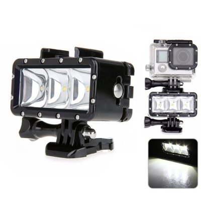 AT471 30M 300LM Waterproof Camera Video Light for Action Camera