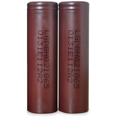 2 x HG2 3000mAh 3.6V 20A 18650 Rechargeable Lithium-ion Battery
