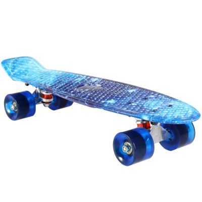 100kg Load Starry Sky Pattern Retro Skateboard