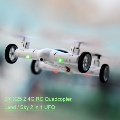 SY X25 2.4G RC Quadcopter Land / Sky 2 in 1 UFO