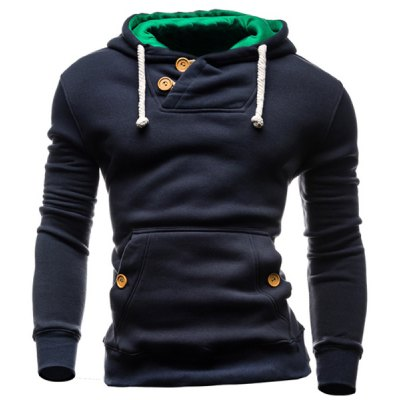 IZZUMI Hooded Long Sleeves Navy Hoodie For Men