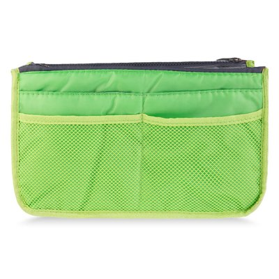 Practical Double Zipper Nylon Mesh Storage Receive Bag