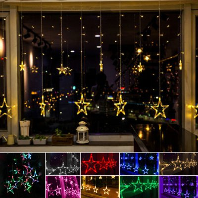 2M 138 LED Star Curtain LightsLED Strips<br>2M 138 LED Star Curtain Lights<br><br>Features: IP-65, Low Power Consumption, Waterproof<br>Input Voltage: AC220<br>LED Type: F5<br>Length: 2m<br>Number of LEDs: 138<br>Optional Light Color: Pink,White,Red,Blue,Green,Purple,Yellow,Colorful,Warm White<br>Package Contents: 1 x LED String Light<br>Package size (L x W x H): 25.00 x 25.00 x 8.00 cm / 9.84 x 9.84 x 3.15 inches<br>Package weight: 0.600 kg<br>Product size (L x W x H): 24.00 x 24.00 x 7.00 cm / 9.45 x 9.45 x 2.76 inches<br>Type: LED String