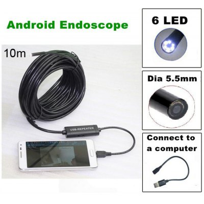 TS - E5510M 10m USB 2.0 Endoscope Water Resistant 480P