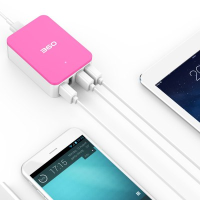 360 4 Ports USB 2.0 Smart Desktop Charger USB Power Strip for iPhone 6 Plus 6 iPad Samsung S6 Edge S6 HTC ONE M9 HUAWEI P8 AndroidUSB Accessories<br>360 4 Ports USB 2.0 Smart Desktop Charger USB Power Strip for iPhone 6 Plus 6 iPad Samsung S6 Edge S6 HTC ONE M9 HUAWEI P8 Android<br><br>Certificate: CCC<br>Design: Professional<br>Feature: Portable<br>Interface: USB2.0<br>Model: 360<br>Optional Color: Pink,Blue,Green,Gray<br>Package Contents: 1 x 360 4-Port 6A USB Smart Charger<br>Package size (L x W x H): 10.00 x 8.00 x 4.00 cm / 3.94 x 3.15 x 1.57 inches<br>Package weight: 0.4000 kg<br>Product size (L x W x H): 8.10 x 5.80 x 2.70 cm / 3.19 x 2.28 x 1.06 inches<br>Product weight: 0.2000 kg