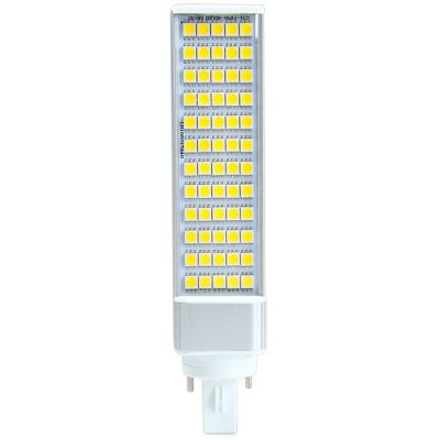 SZFC G24 12W LED Horizontal Plug LampCorn Bulbs<br>SZFC G24 12W LED Horizontal Plug Lamp<br><br>Available Light Color: White,Warm White<br>Brand: SZFC<br>CCT/Wavelength: 3000K,6000K<br>Emitter Types: SMD 5050<br>Features: Long Life Expectancy, Low Power Consumption<br>Function: Studio and Exhibition Lighting, Commercial Lighting, Home Lighting<br>Holder: E27,G24<br>Luminous Flux: 1100Lm<br>Output Power: 12W<br>Package Contents: 1 x G24 12W LED Horizontal Plug Lamp<br>Package size (L x W x H): 21 x 5 x 5 cm / 8.25 x 1.97 x 1.97 inches<br>Package weight: 0.167 kg<br>Product size (L x W x H): 16.4 x 3.5 x 3.5 cm / 6.45 x 1.38 x 1.38 inches<br>Product weight: 0.128 kg<br>Rated Luminous Flux: 1160Lm<br>Sheathing Material: Plastic, Aluminum<br>Total Emitters: 60<br>Type: Horizontal Plug Lamp<br>Voltage (V): AC 85-265/50-60Hz