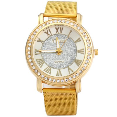 YTwatch Diamond Lady Quartz Watch with Stainless Steel BandWomens Watches<br>YTwatch Diamond Lady Quartz Watch with Stainless Steel Band<br><br>Available Color: Gold<br>Band material: Stainless Steel<br>Brand: YTwatch<br>Case material: Stainless Steel<br>Clasp type: Pin buckle<br>Display type: Analog<br>Movement type: Quartz watch<br>Package Contents: 1 x YTwatch Watch<br>Package size (L x W x H): 24 x 5.2 x 1.9 cm / 9.43 x 2.04 x 0.75 inches<br>Package weight: 0.11 kg<br>Product size (L x W x H): 23 x 4.2 x 0.9 cm / 9.04 x 1.65 x 0.35 inches<br>Product weight: 0.060 kg<br>Shape of the dial: Round<br>Style: Fashion&amp;Casual<br>The band width: 1.8 cm / 0.71 inches<br>The dial diameter: 4.2 cm / 1.65 inches<br>The dial thickness: 0.9 cm / 0.35 inches<br>Watches categories: Female table