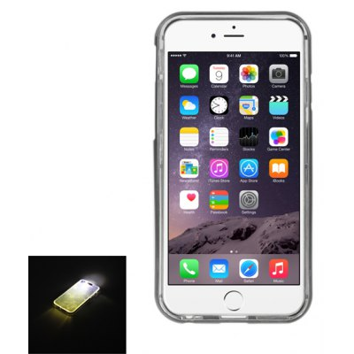 ENKAY Clear HD Screen Protector Film Protective TPU Material Back Case Cover with Call Flash for iPhone 6