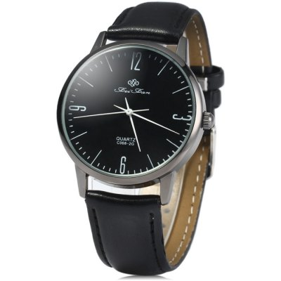 FEIFAN C0682G Male Quartz Watch with Leather Band