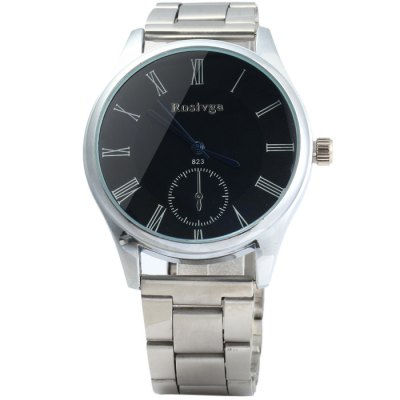 Rosivga 823 Stainless Steel Band Quartz Watch for MenMens Watches<br>Rosivga 823 Stainless Steel Band Quartz Watch for Men<br><br>Available Color: Black,White<br>Band material: Stainless Steel<br>Brand: Rosivga<br>Case material: Stainless Steel<br>Clasp type: Folding clasp with safety<br>Display type: Analog<br>Movement type: Quartz watch<br>Package Contents: 1 x Rosivga 823 Quartz Watch<br>Package size (L x W x H): 21 x 5 x 1.8 cm / 8.25 x 1.97 x 0.71 inches<br>Package weight: 0.123 kg<br>Product size (L x W x H): 20 x 4 x 0.8 cm / 7.86 x 1.57 x 0.31 inches<br>Product weight: 0.073 kg<br>Shape of the dial: Round<br>Special features: Decorating small sub-dials<br>Style elements: Stainless Steel<br>The band width: 1.8 cm / 0.71inches<br>The dial diameter: 4.0 cm / 1.57 inches<br>The dial thickness: 0.8 cm / 0.31 inches<br>Watch style: Fashion<br>Watches categories: Male table