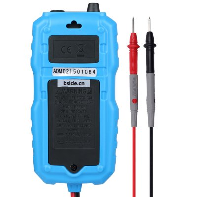 BSIDE ADM06 Digital MultimeterMultimeters &amp; Fitting<br>BSIDE ADM06 Digital Multimeter<br><br>Brand: BSIDE<br>Model: ADM06<br>Package Contents: 1 x BSIDE ADM06 Digital Multimeter<br>Package size (L x W x H): 14.20 x 10.00 x 3.50 cm / 5.59 x 3.94 x 1.38 inches<br>Package weight: 0.200 kg<br>Product size (L x W x H): 13.00 x 6.20 x 2.70 cm / 5.12 x 2.44 x 1.06 inches<br>Product weight: 0.160 kg<br>Type: Digital Multimeter