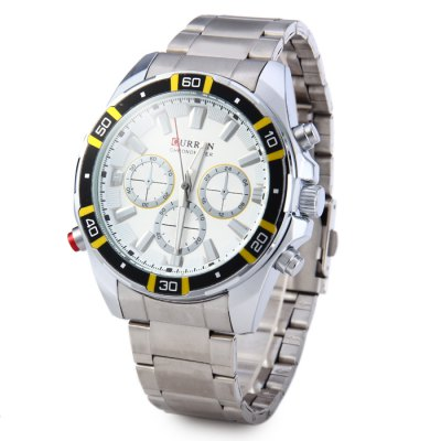 Curren 8184 Male Quartz Watch with Stainless Steel Band