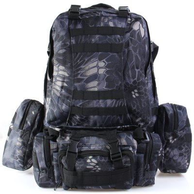 60L Tactical Combination Type BackpackBackpacks<br>60L Tactical Combination Type Backpack<br><br>Bag Capacity: 60L<br>Capacity: Above 40L<br>Color: Balck Python Pattern,Green Python Pattern,Mud Color,Mud Color Python Pattern,Ruins Gray,Ruins Green<br>Features: Tactical Style, Foldable, molle system<br>For: Tactical, Other, Cycling, Climbing, Camping, Traveling<br>Material: Oxford Fabric<br>Package Contents: 1 x 60L Tactical Combination Type Backpack<br>Package size (L x W x H): 63.00 x 54.00 x 18.00 cm / 24.8 x 21.26 x 7.09 inches<br>Package weight: 1.700 kg<br>Product size (L x W x H): 57.00 x 48.00 x 16.00 cm / 22.44 x 18.9 x 6.3 inches<br>Product weight: 1.300 kg<br>Type: Shoulder bag