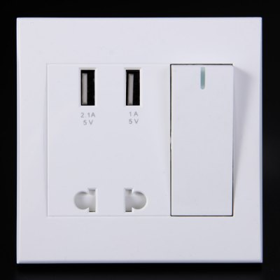 RNAi 902 USB Charging Wall PanelPlugs &amp; Sockets<br>RNAi 902 USB Charging Wall Panel<br><br>Package Contents: 1 x RNAi 902 2 Port USB US / EU Socket Charging Wall Panel, 2 x Screw<br>Package size (L x W x H): 11.6 x 11.5 x 6 cm / 4.56 x 4.52 x 2.36 inches<br>Package weight: 0.214 kg<br>Product size (L x W x H): 8.6 x 8.5 x 4 cm / 3.38 x 3.34 x 1.57 inches<br>Product weight: 0.099 kg