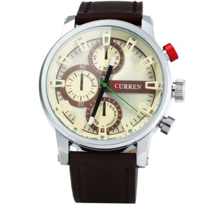 Curren 8170 Male Quartz Watch with Stereo Scale Leather BandMens Watches<br>Curren 8170 Male Quartz Watch with Stereo Scale Leather Band<br><br>Available Color: Blue,Brown,Red,Yellow<br>Band material: Leather<br>Brand: Curren<br>Case material: Stainless Steel<br>Clasp type: Pin buckle<br>Display type: Analog<br>Movement type: Quartz watch<br>Package Contents: 1 x Curren 8170 Watch<br>Package size (L x W x H): 27.00 x 5.80 x 2.10 cm / 10.63 x 2.28 x 0.83 inches<br>Package weight: 0.126 kg<br>Product size (L x W x H): 26.00 x 4.80 x 1.10 cm / 10.24 x 1.89 x 0.43 inches<br>Product weight: 0.076 kg<br>Shape of the dial: Round<br>Special features: Decorating small sub-dials<br>The band width: 2.2 cm / 0.87 inches<br>The dial diameter: 4.8 cm / 1.89 inches<br>The dial thickness: 1.1 cm / 0.63 inches<br>Watch style: Fashion<br>Watches categories: Male table<br>Wearable length: 18 - 22.5 cm / 7.09 - 8.86 inches