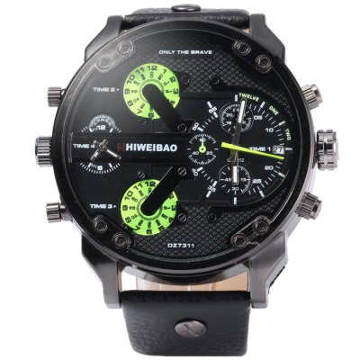 Shiweibao A3137 Male Dual Movt Quartz Watch with Date Function Leather BandMens Watches<br>Shiweibao A3137 Male Dual Movt Quartz Watch with Date Function Leather Band<br><br>Available Color: Black,Green,Brown,Gold,Silver<br>Band material: Leather<br>Brand: Shiweibao<br>Case material: Stainless Steel<br>Clasp type: Pin buckle<br>Display type: Analog<br>Movement type: Double-movtz<br>Package Contents: 1 x Shiweibao A3137 Watch<br>Package size (L x W x H): 28.5 x 6.7 x 2.5 cm / 11.20 x 2.63 x 0.98 inches<br>Package weight: 0.155 kg<br>Product size (L x W x H): 27.5 x 5.7 x 1.5 cm / 10.81 x 2.24 x 0.59 inches<br>Product weight: 0.105 kg<br>Shape of the dial: Round<br>Special features: Date, Decorating small sub-dials<br>The band width: 2.3 cm / 0.91 inches<br>The dial diameter: 5.7 cm / 2.24 inches<br>The dial thickness: 1.5 cm / 0.59 inches<br>Watch style: Fashion<br>Watches categories: Male table<br>Wearable length: 19 - 23 cm / 7.48 - 9.06 inches