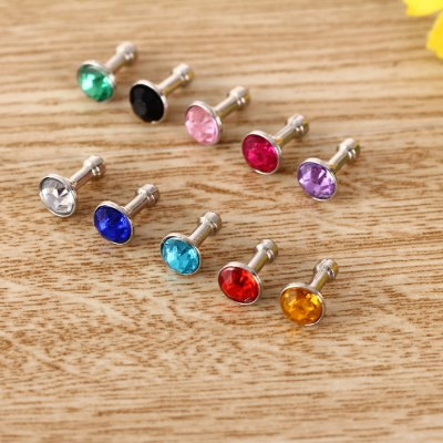 3.5mm Anti Dust Plug Diamond Design Earphone Jack Cap 10PcsiPhone Charms<br>3.5mm Anti Dust Plug Diamond Design Earphone Jack Cap 10Pcs<br><br>Apply: 3.5 mm<br>Color: Pink,Black,White,Red,Blue,Green,Purple,Rose,Yellow,Light blue<br>Mainly Compatible with: SAMSUNG, iPhone 5 / 5S, iPhone 6S, iPhone 6 Plus, iPhone 6, Samsung S6, HTC One M9, Xiaomi, HTC, Sony, Samsung Note 5, Samsung Galaxy S6 Edge Plus<br>Package Contents: 10 x 3.5mm Jack Anti-Dust Plug<br>Package size (L x W x H): 1.5 x 1.5 x 2 cm / 0.59 x 0.59 x 0.79 inches<br>Package weight: 0.025 kg<br>Product size (L x W x H): 0.7 x 0.7 x 1.3 cm / 0.28 x 0.28 x 0.51 inches<br>Product weight: 0.002 kg<br>Style elements: Diamond