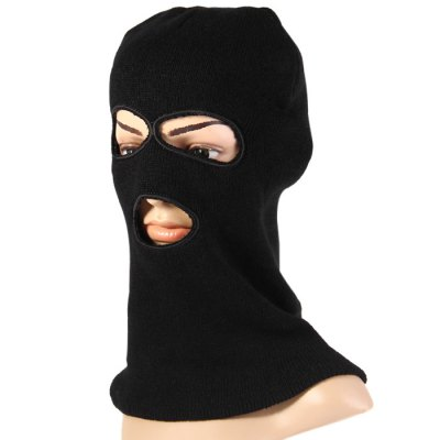 3-holes Knit Face Mask Balaclava Hat for Winter ActivitiesOther Camping Gadgets<br>3-holes Knit Face Mask Balaclava Hat for Winter Activities<br><br>Color: Black,Camouflage<br>Functions: Sun protection, Sun Block, High quality, Soft-touch, Windproof, Decoration, Stylish, Keep Warm<br>Package Contents: 1 x Balaclava Hat<br>Package size (L x W x H): 20.5 x 12 x 7 cm / 8.06 x 4.72 x 2.75 inches<br>Package weight: 0.110 kg<br>Product size (L x W x H): 41 x 20.5 x 1.3 cm / 16.11 x 8.06 x 0.51 inches<br>Product weight: 0.083 kg