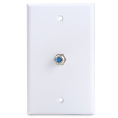 Single-Port F Female to Female Connector Wall Plate