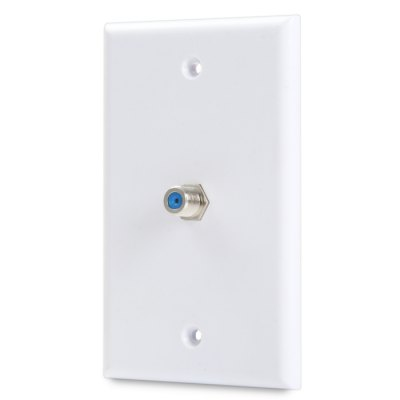 Single-Port F Female to Female Connector Wall PlatePlugs &amp; Sockets<br>Single-Port F Female to Female Connector Wall Plate<br><br>Color: White<br>Package Contents: 1 x Single-Port F Plate, 1 x F Female to Female Connector, 1 x Pack of Accessory<br>Package size (L x W x H): 12 x 8 x 2 cm / 4.72 x 3.14 x 0.79 inches<br>Package weight: 0.082 kg<br>Product size (L x W x H): 11.5 x 7.1 x 2.8 cm / 4.52 x 2.79 x 1.10 inches<br>Product weight: 0.031 kg