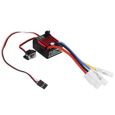 Hobbywing QuicRun 1060 60A Brushed ESC Set BEC Electronic Speed Controller for Vehicle BoatESC<br>Hobbywing QuicRun 1060 60A Brushed ESC Set BEC Electronic Speed Controller for Vehicle Boat<br><br>Package Contents: 1 x ESC, 2 x Tie, 2 x Heat-shrinking Tube, 1 x Double-sided Adhesive, 1 x Sticker<br>Package size (L x W x H): 15 x 10 x 1.4 cm / 5.90 x 3.93 x 0.55 inches<br>Package weight: 0.02 kg<br>Type: ESC