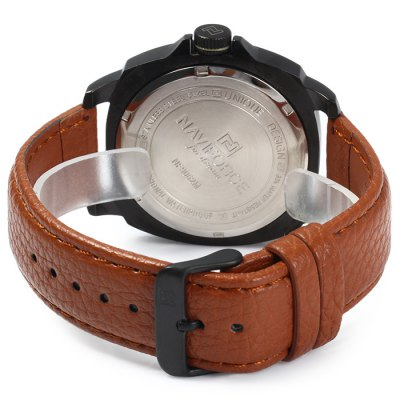 Naviforce NF9062M Men Japan Quartz WatchMens Watches<br>Naviforce NF9062M Men Japan Quartz Watch<br><br>Available Color: Black,Brown,Orange<br>Band material: Genuine Leather<br>Brand: Naviforce<br>Case material: Stainless Steel<br>Clasp type: Pin buckle<br>Display type: Analog<br>Movement type: Quartz watch<br>Package Contents: 1 x Naviforce NF9062M Watch<br>Package size (L x W x H): 28 x 5.6 x 2 cm / 11.00 x 2.20 x 0.79 inches<br>Package weight: 0.136 kg<br>Product size (L x W x H): 27 x 4.6 x 1 cm / 10.61 x 1.81 x 0.39 inches<br>Product weight: 0.086 kg<br>Shape of the dial: Round<br>Special features: Date<br>Style elements: Stainless Steel<br>The band width: 2.3 cm / 0.91 inches<br>The dial diameter: 4.6 cm / 1.81 inches<br>The dial thickness: 1.0 cm / 0.39 inches<br>Watch style: Casual<br>Watches categories: Male table<br>Water resistance : 30 meters<br>Wearable length: 18 - 22.5 cm / 7.09 - 8.86 inches