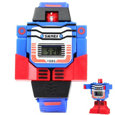 Skmei 1095 Robot Dial LED Watch with Rubber Band for Children