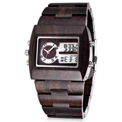 Bewell 2539 Sandalwood Band Male Japan Quartz Watch