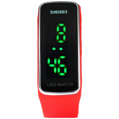 Skmei 1119 LED WatchLED Watches<br>Skmei 1119 LED Watch<br><br>Available Color: Black,Red,Blue,Plum<br>Band material: Rubber<br>Brand: Skmei<br>Clasp type: Buckle<br>Display type: Digital<br>Movement type: Digital watch<br>Package Contents: 1 x Skmei 1119 LED Watch<br>Package size (L x W x H): 24 x 3 x 2.2 cm / 9.43 x 1.18 x 0.86 inches<br>Package weight: 0.069 kg<br>People: Male table<br>Product size (L x W x H): 23 x 2 x 1.2 cm / 9.04 x 0.79 x 0.47 inches<br>Product weight: 0.019 kg<br>Shape of the dial: Rectangle<br>Special features: Date<br>The band width: 1.7 cm / 0.67 inches<br>The dial diameter: 2.0 cm / 0.79 inches<br>The dial thickness: 1.2 cm / 0.47 inches<br>Watch style: Fashion&amp;Casual, Outdoor Sports, LED<br>Wearable length: 16 - 23 cm / 6.3 - 9.06 inches