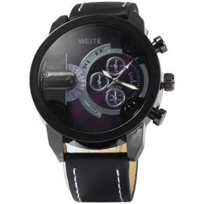 Weite Men Quartz Watch with Leather BandMens Watches<br>Weite Men Quartz Watch with Leather Band<br><br>Available Color: Black,Red,Brown,Gray, Black,Red,Brown,Gray<br>Band material: Leather, Leather<br>Brand: Weite, Weite<br>Case material: Stainless Steel, Stainless Steel<br>Clasp type: Pin buckle, Pin buckle<br>Display type: Analog, Analog<br>Movement type: Quartz watch, Quartz watch<br>Package Contents: 1 x Weite Watch, 1 x Weite Watch<br>Package size (L x W x H): 28 x 6 x 2.2 cm / 11.00 x 2.36 x 0.86 inches, 28 x 6 x 2.2 cm / 11.00 x 2.36 x 0.86 inches<br>Package weight: 0.129 kg, 0.129 kg<br>Product size (L x W x H): 27 x 5 x 1.2 cm / 10.61 x 1.97 x 0.47 inches, 27 x 5 x 1.2 cm / 10.61 x 1.97 x 0.47 inches<br>Product weight: 0.079 kg, 0.079 kg<br>Shape of the dial: Round, Round<br>Special features: Decorating small sub-dials, Decorating small sub-dials<br>The band width: 2.2 cm / 0.87 inches, 2.2 cm / 0.87 inches<br>The dial diameter: 5.0 cm / 1.97 inches, 5.0 cm / 1.97 inches<br>The dial thickness: 1.2 cm / 0.47 inches, 1.2 cm / 0.47 inches<br>Watch style: Casual, Casual<br>Watches categories: Male table, Male table<br>Wearable length: 19 - 23 cm / 7.48 - 9.06 inches, 19 - 23 cm / 7.48 - 9.06 inches